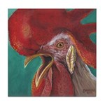Rock And Roll Rooster Tile Coaster