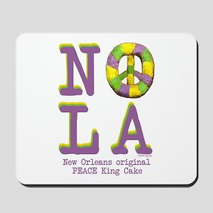 NOLA Peace King Cake Mousepad