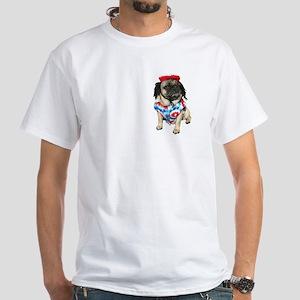Jamaican Pugs White T-Shirt
