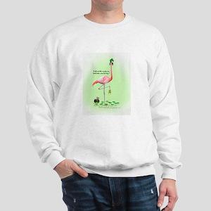 St Patrick's Day Flamingo Sweatshirt