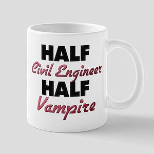 Half Civil Engineer Half Vampire Mugs