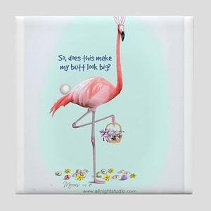 Easter Flamingo Tile Coaster