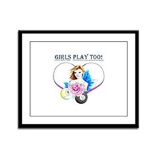 Girls Play Pool Too Framed Panel Print