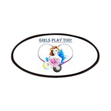 Girls Play Pool Too Patch