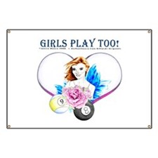 Girls Play Pool Too Banner