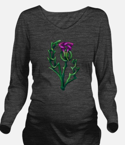 Thistle Long Sleeve Maternity T-Shirt