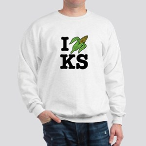 I Love Kansas (corn) Sweatshirt
