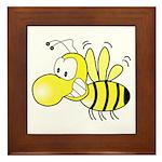 The Original Cute Bee Framed Tile