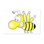 The Original Cute Bee  Mini Poster Print