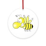 The Original Cute Bee Ornament (Round)