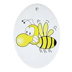 The Original Cute Bee Oval Ornament