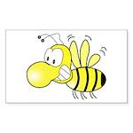 The Original Cute Bee Rectangle Sticker