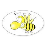 The Original Cute Bee Oval Sticker