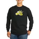 The Original Cute Bee Long Sleeve Dark T-Shirt