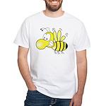 The Original Cute Bee White T-Shirt