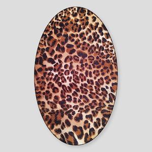 modern leopard print Sticker (Oval)