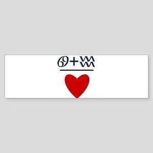 Cancer + Aquarius = Love Sticker (Bumper)