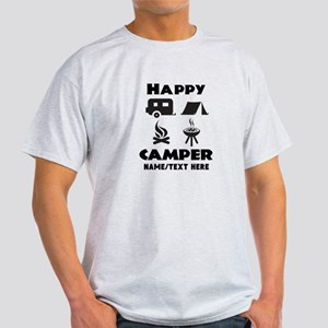 Happy Camper Personalized Light T-Shirt