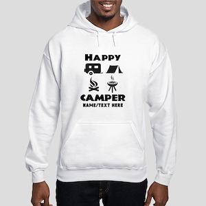 Happy Camper Personalized Hooded Sweatshirt