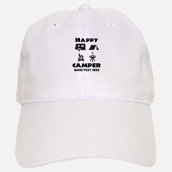 Happy Camper Personalized Baseball Baseball Cap