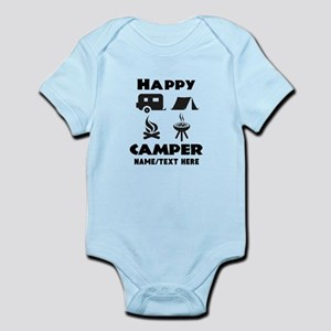 Happy Camper Personalized Baby Light Bodysuit