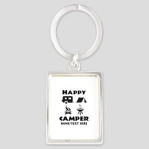 Happy Camper Personalized Portrait Keychain