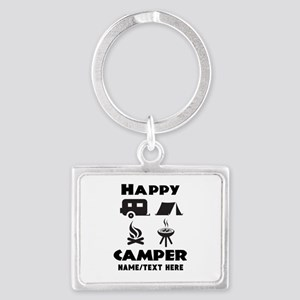 Happy Camper Personalized Landscape Keychain