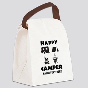 Happy Camper Personalized Canvas Lunch Bag