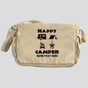 Happy Camper Personalized Messenger Bag