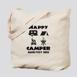 Happy Camper Personalized Tote Bag