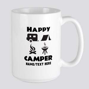 Happy Camper Personalized 15 oz Ceramic Large Mug