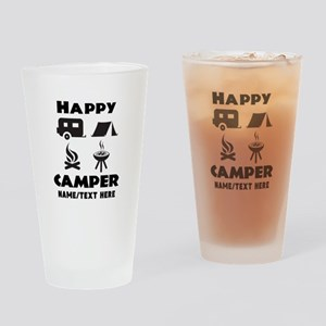 Happy Camper Personalized Drinking Glass