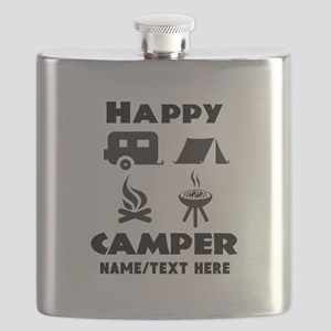 Happy Camper Personalized Flask