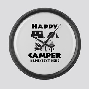 Happy Camper Personalized Large Wall Clock