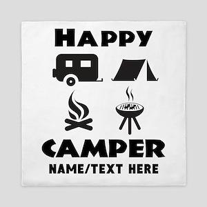 Happy Camper Personalized Queen Duvet