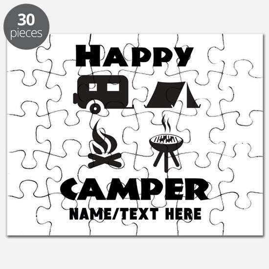 Happy Camper Personalized Puzzle
