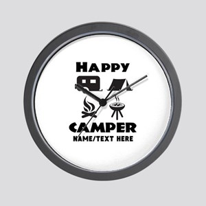 Happy Camper Personalized Wall Clock