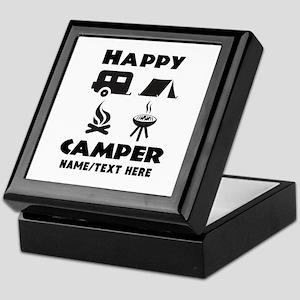 Happy Camper Personalized Keepsake Box