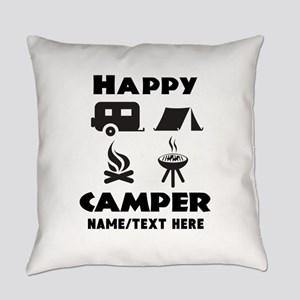 Happy Camper Personalized Everyday Pillow