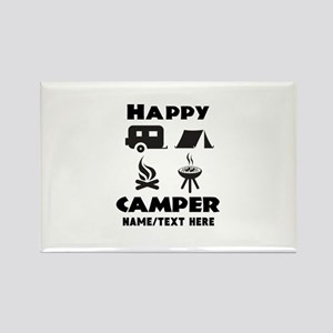 Happy Camper Personalized Rectangle Magnet