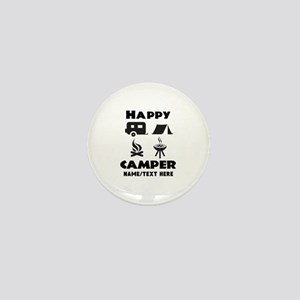 Happy Camper Personalized Mini Button