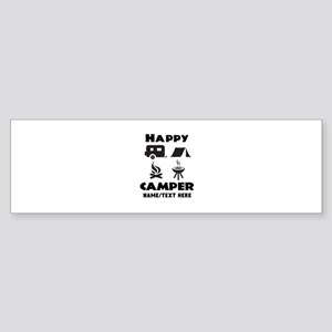Happy Camper Personalized Sticker Bumper