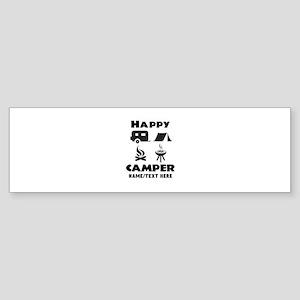 Happy Camper Personalized Sticker Bumper