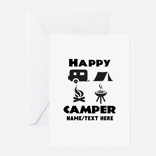Happy Camper Personalized Greeting Card