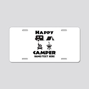 Happy Camper Personalized Aluminum License Plate