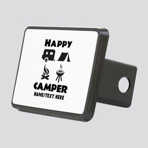 Happy Camper Personalized Rectangular Hitch Cover
