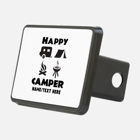 Happy Camper Personalized Hitch Cover