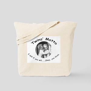 Twins' Motto Apparel Tote Bag