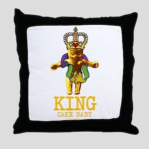 King Cake Baby Throw Pillow