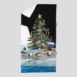 Christmas at the North Pole Beach Towel